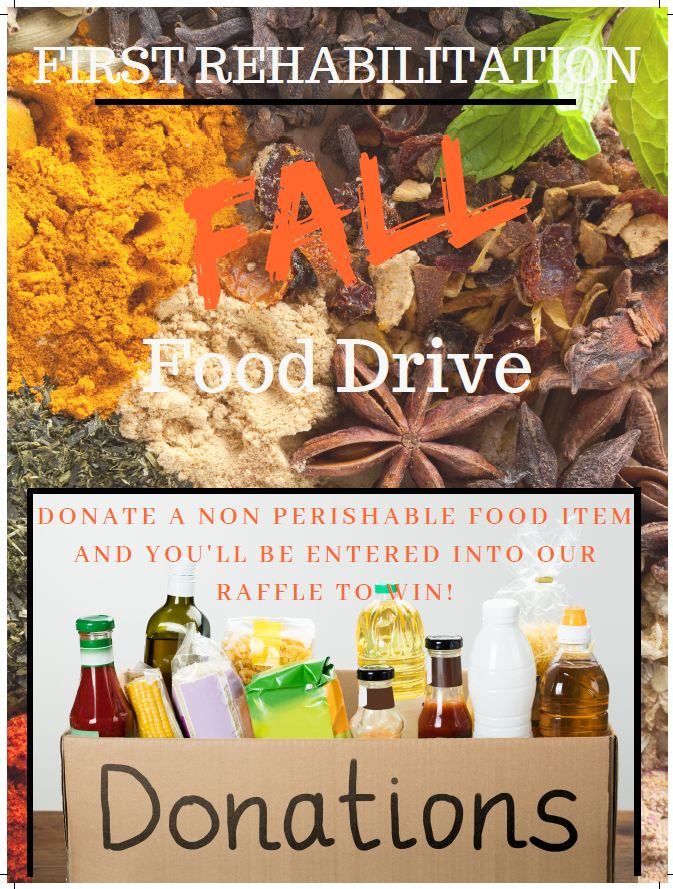 First Rehab Food Drive